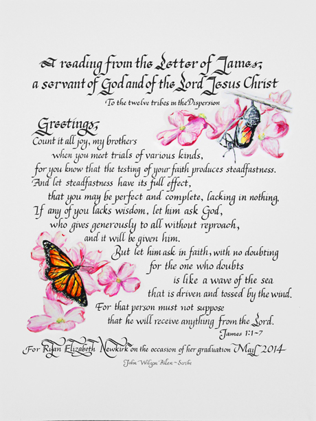 A Reading from the Letter of James